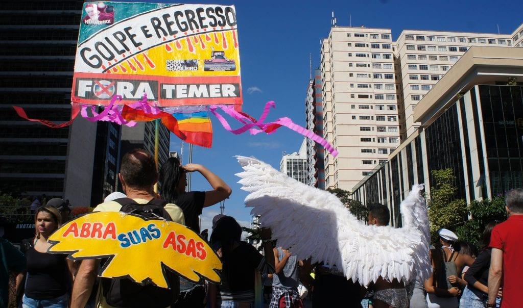 Abra suas asas. 21ª Parada do Orgulho LGBT. Av Paulsta. São Paulo. Elle Fortes.